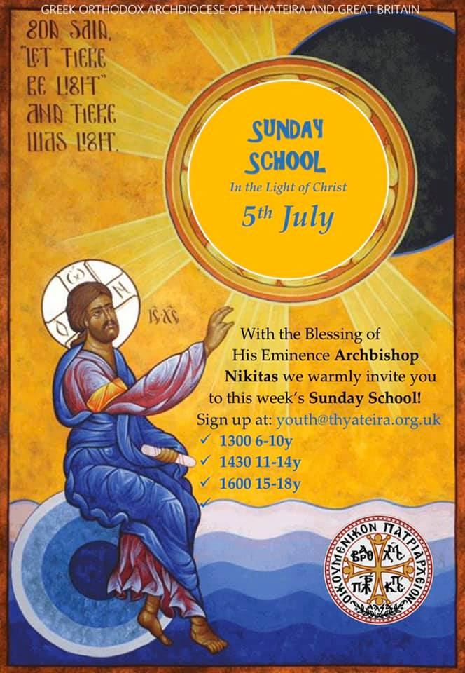 Online Sunday School: 5th July