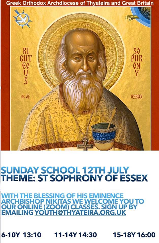 Online Sunday School: 12th July