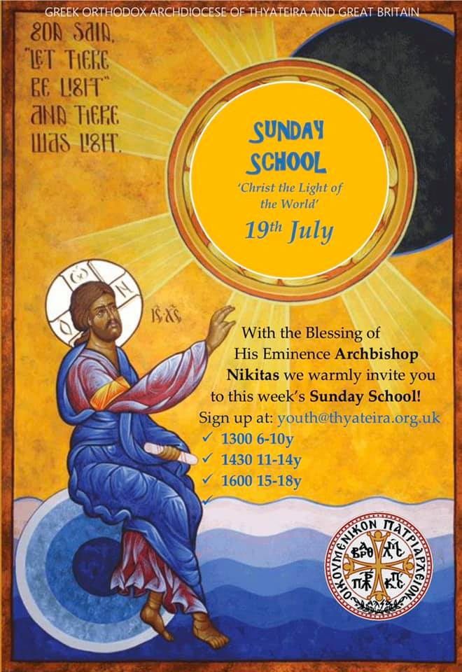Online Sunday School: 19th July