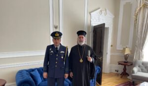 The Defence Attaché of the Republic of Cyprus visited Archbishop Nikitas